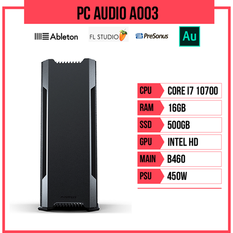 PC Audio A003 (i7-10700/B460/16GB RAM/500GB SSD/450W)