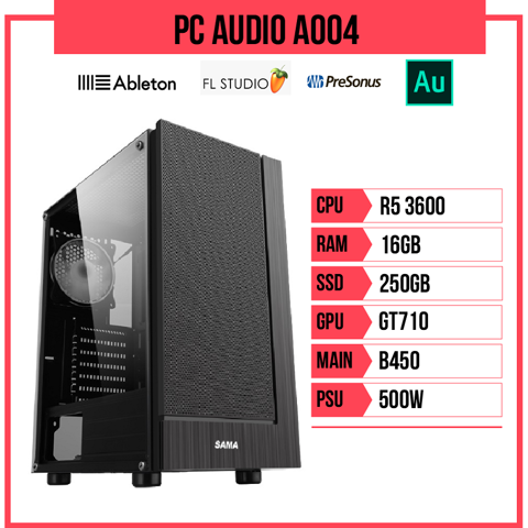 PC Audio A004 (R5 3600/B450/16GB RAM/250GB SSD/GT710/500W)