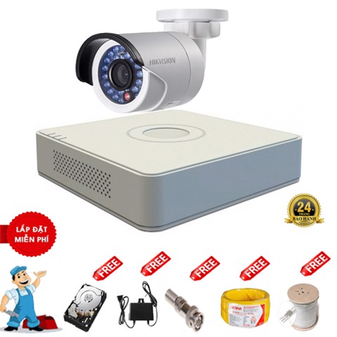 Bộ 01 camera Full HD 1080P IP Hikvision