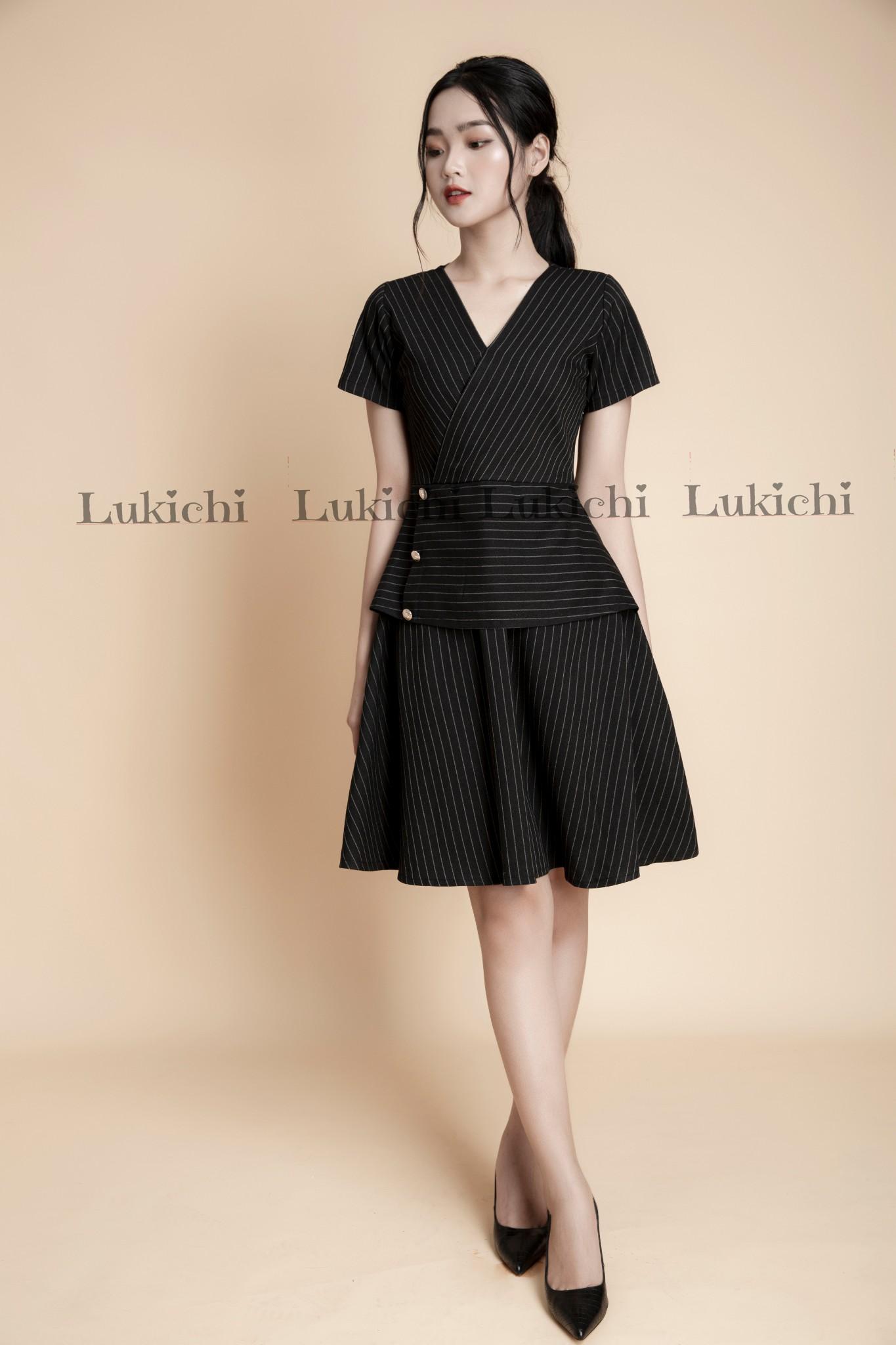 Váy basic kẻ LV08