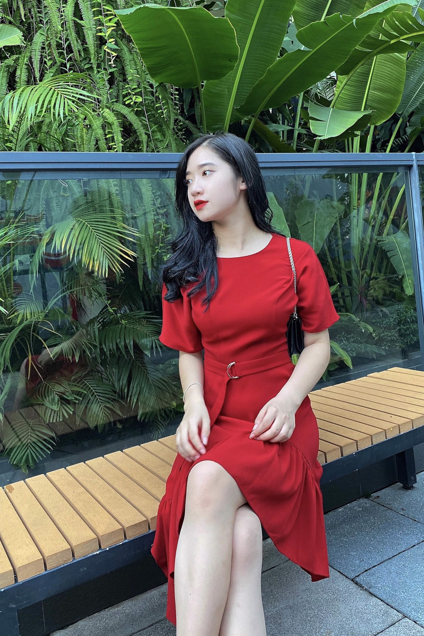 Váy Basic đỏ LV37