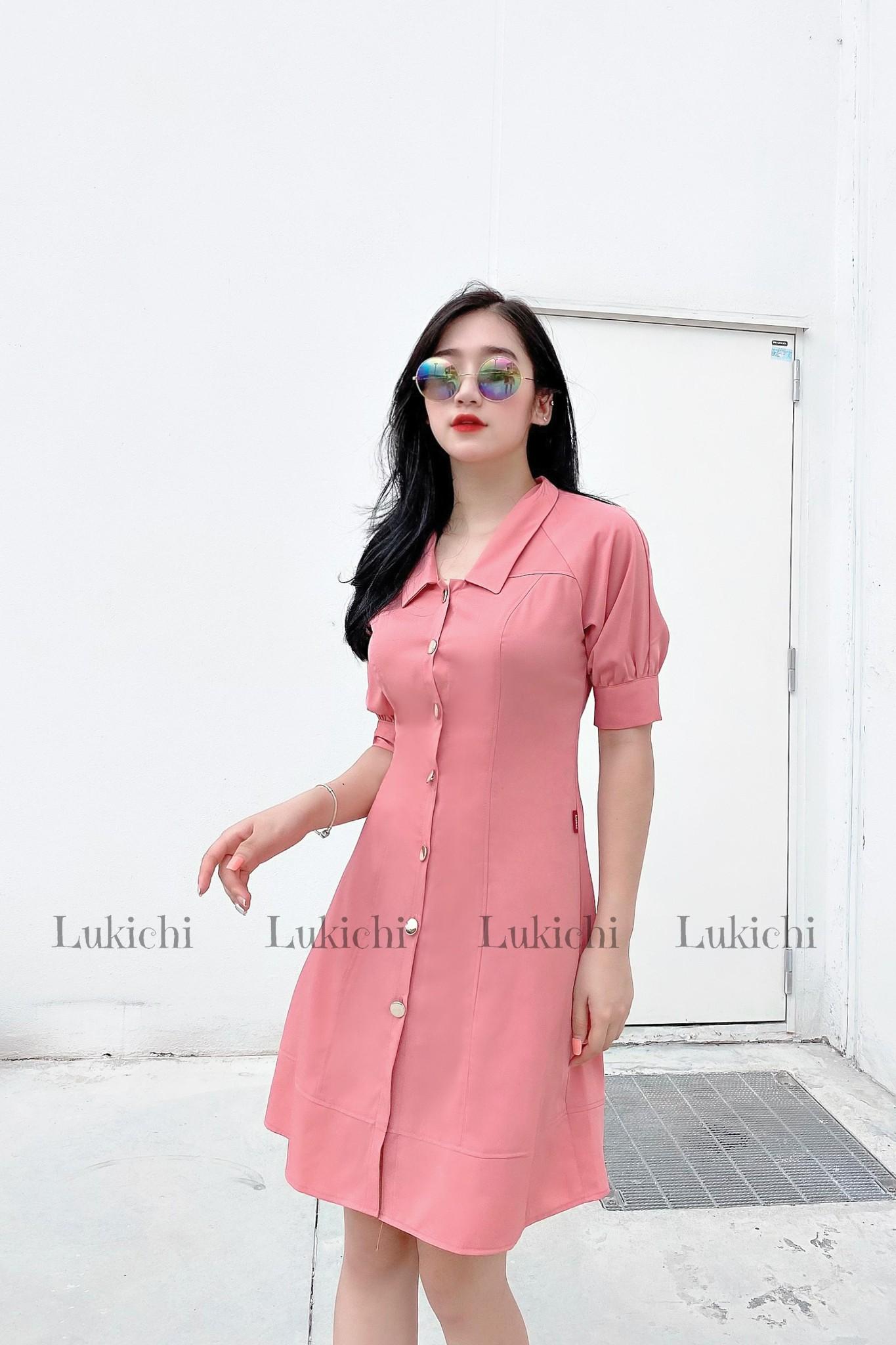 Váy basic cúc dọc thân LV42