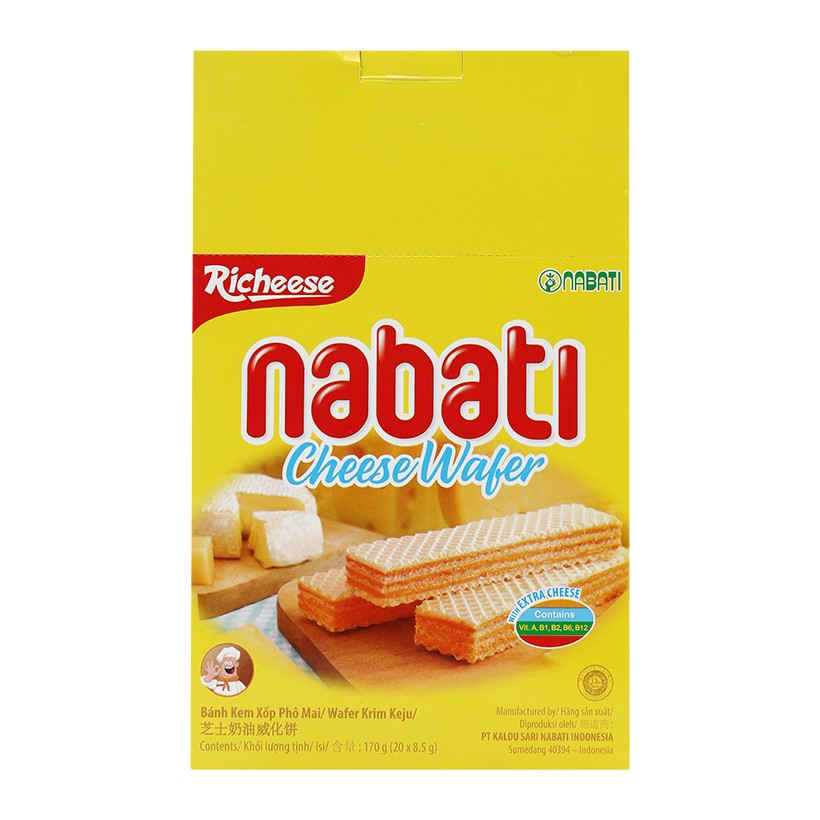 Bánh Xốp Nabati Cheese Wafer (170g)