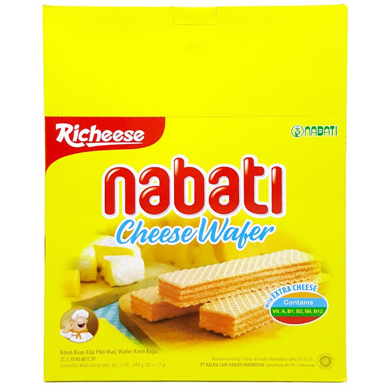 Bánh Xốp Nabati Cheese Wafer (340g)