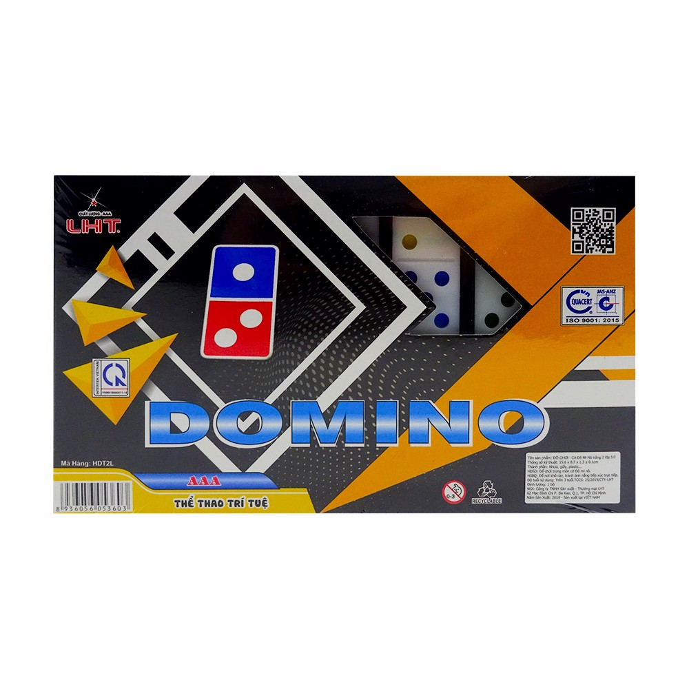 Cờ Domino Trắng 2 Lớp