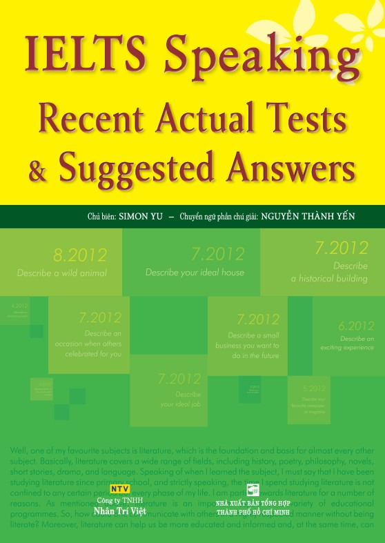 Ielts Speaking Recent Actual Tests - Suggested Answers