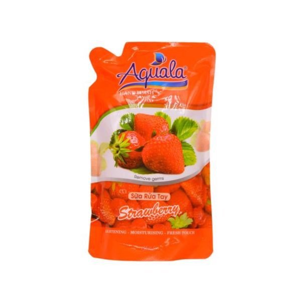 Sửa Rửa Tay Strawberry Aquala (450ml)