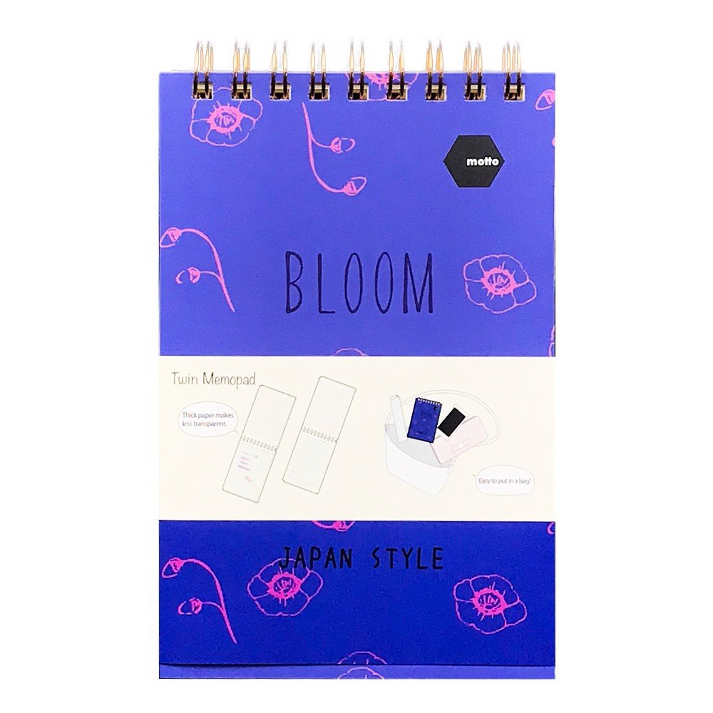 Sổ LX Twin Memopad BLOOM Motto A6