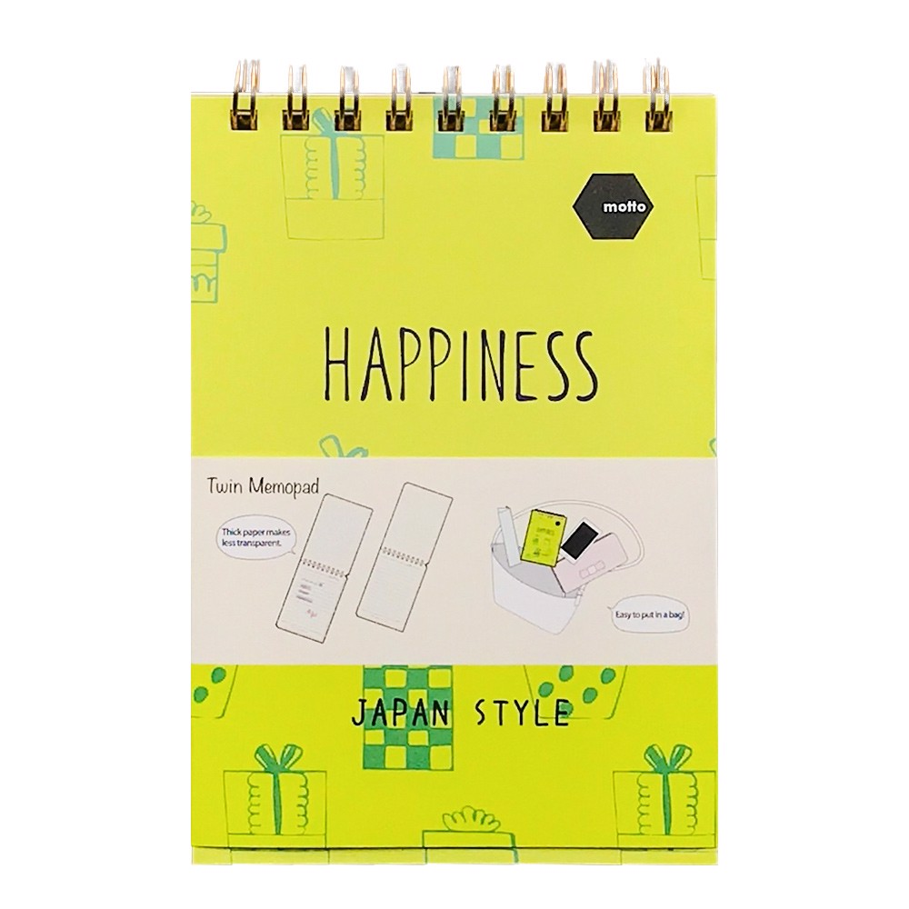 Sổ LX Twin Memopad HAPPINESS Motto A6