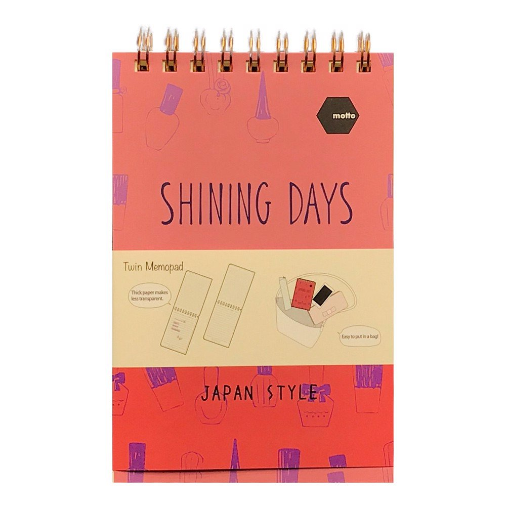 Sổ LX Twin Memopad SHINING DAYS Motto A6