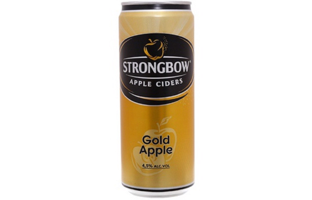 Bia Strongbow Gold Apple - Táo - Lon 330ml
