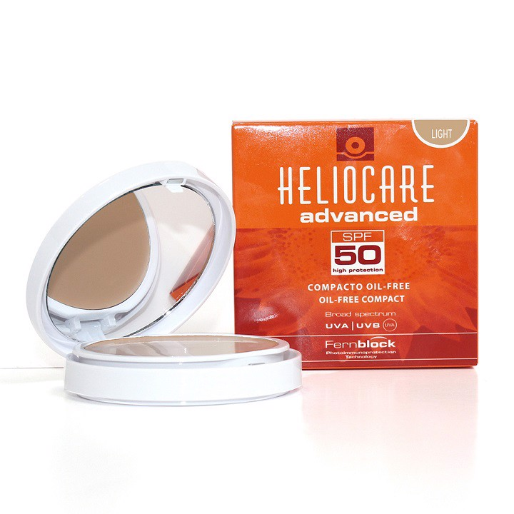 Phấn nền chống nắng Heliocare Oil Free Compact SPF 50 Fair