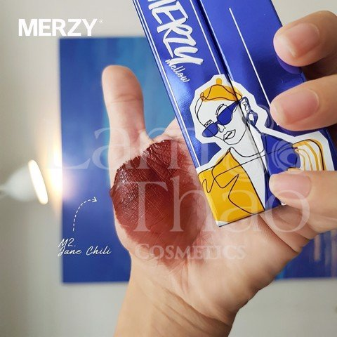 [HOT] Son kem lỳ Merzy Mellow Blue Tint Version Girl