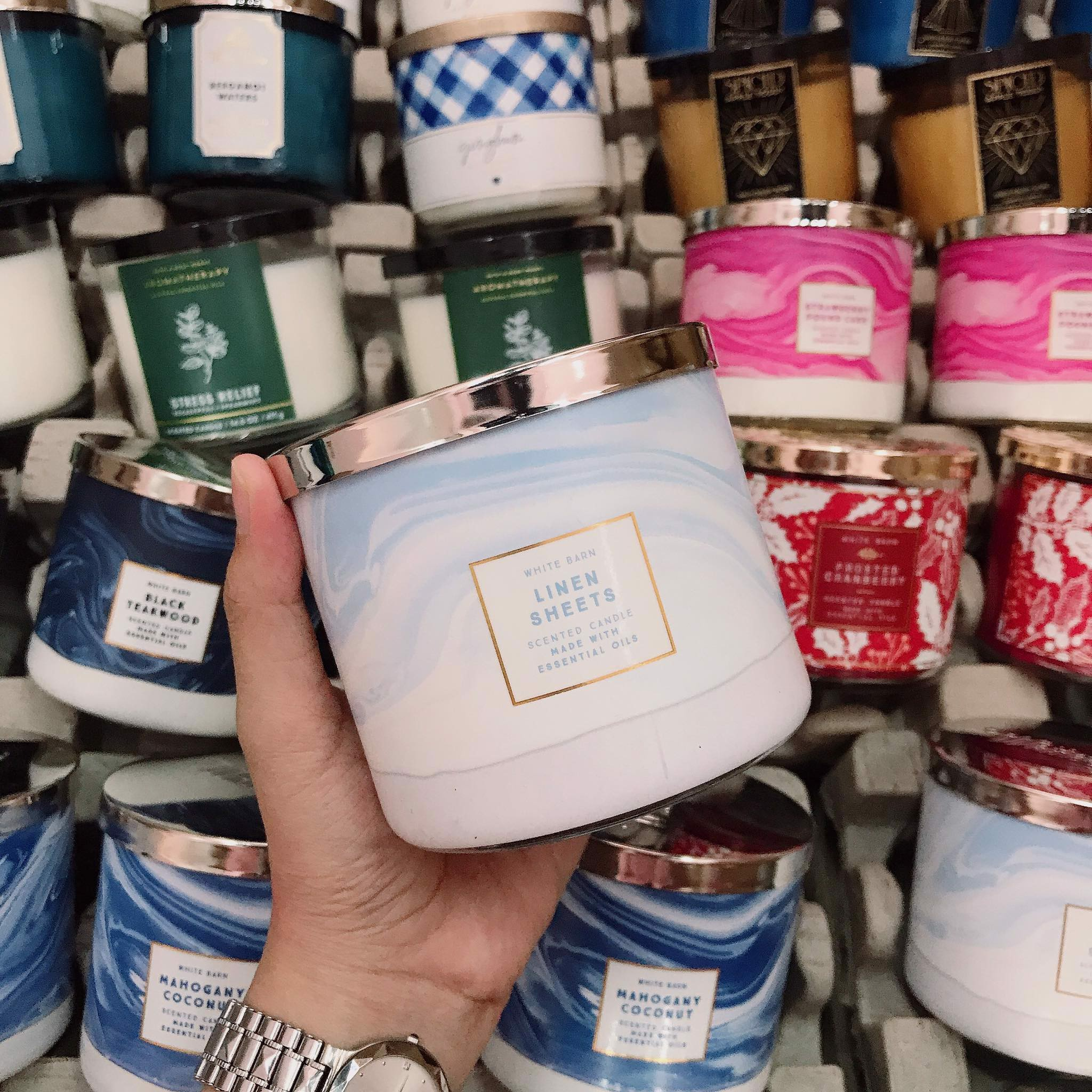 Nến Thơm 3 Bấc Bath & Body Works Linen Sheets Scented Candle