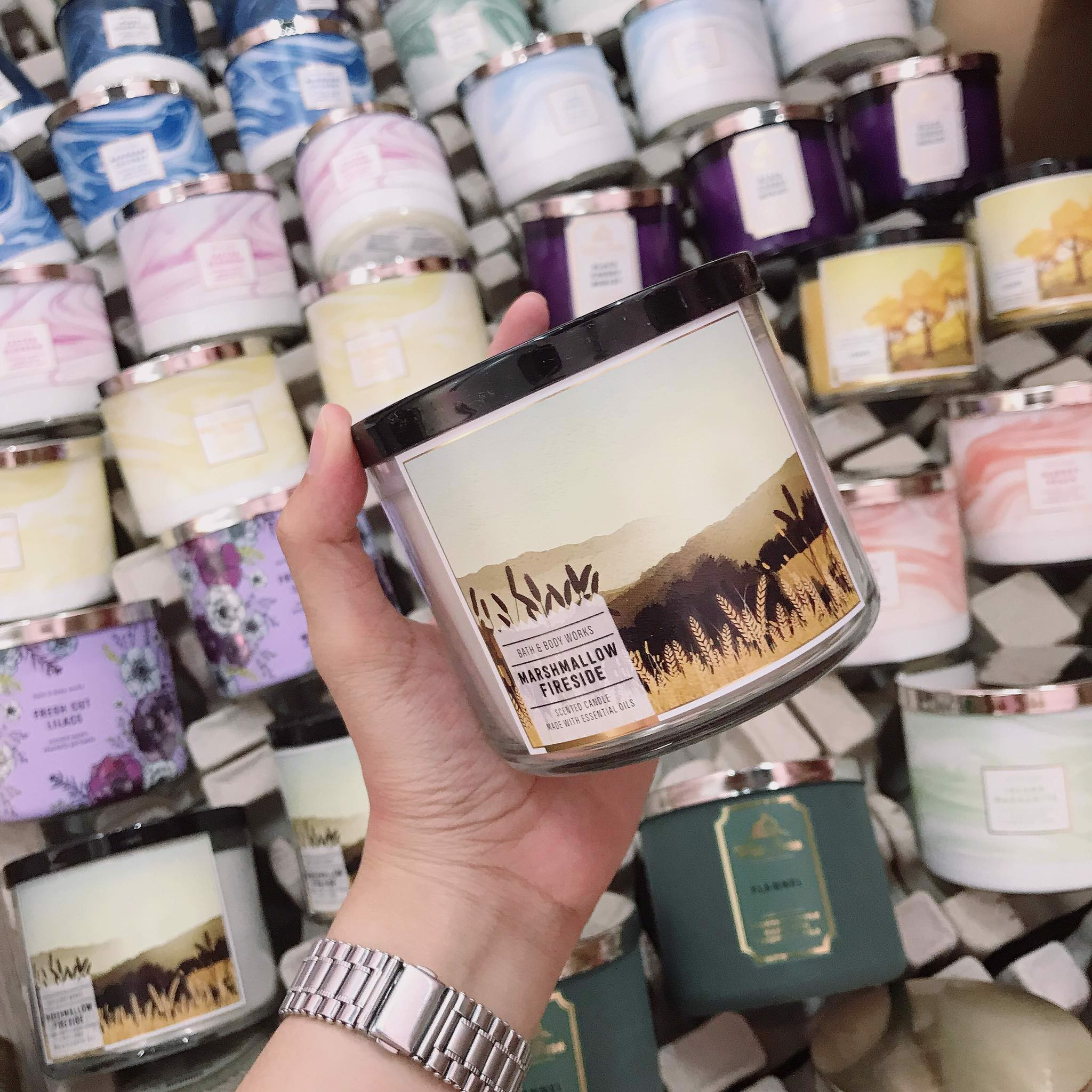 Nến Thơm 3 Bấc Bath & Body Works Marshmallow Fireside Scented Candle