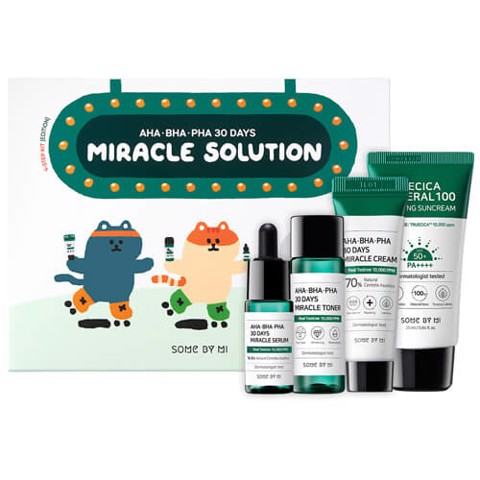 Bộ Dưỡng Da Trị Mụn Some By Mi AHA-BHA-PHA 30 Days Miracle Solution 4-Step Kit Edition