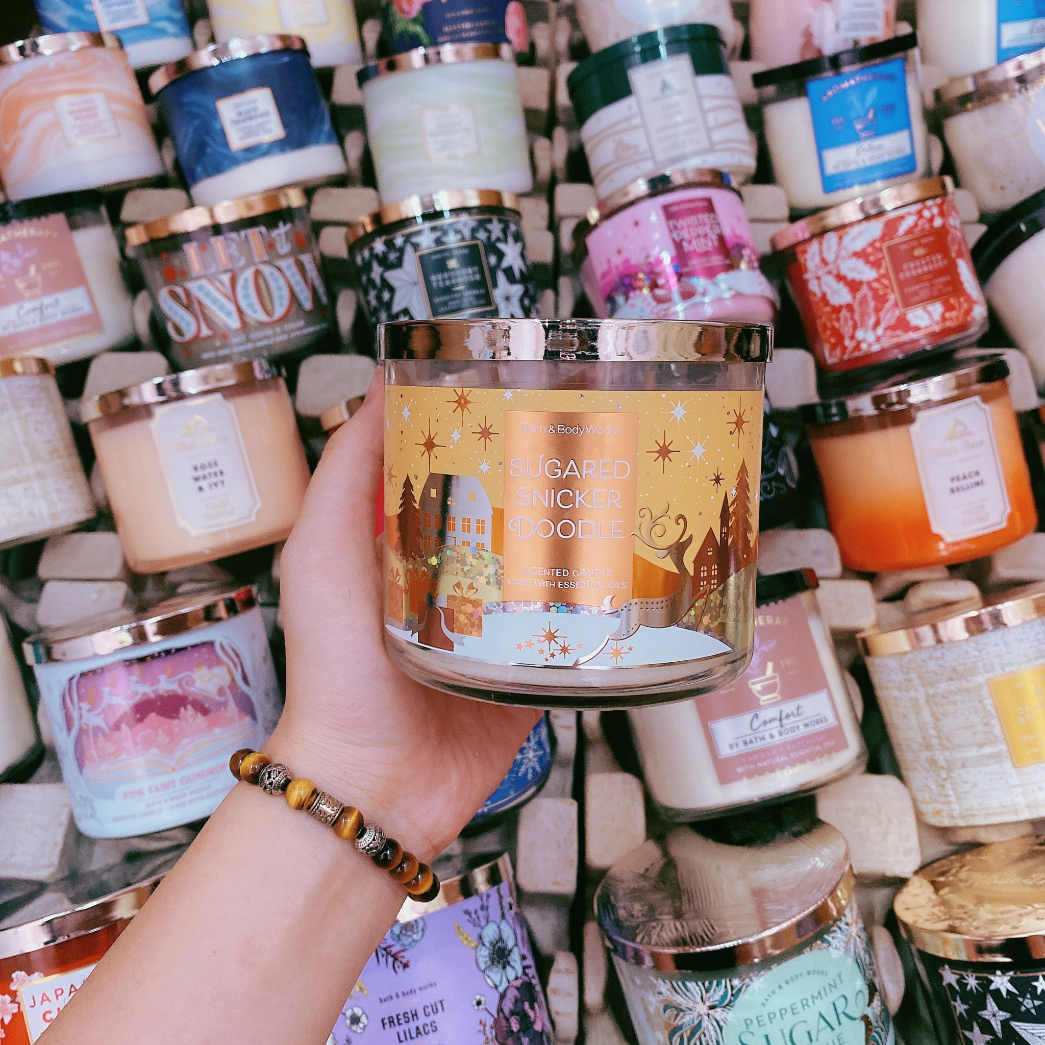 Nến Thơm 3 Bấc Bath & Body Works Sugared Snickerdoodle Scented Candle