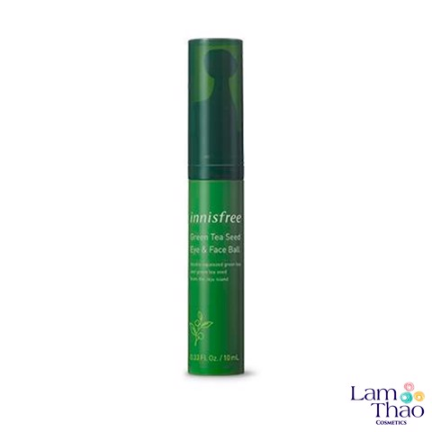 Thanh Lăn Massage Mắt & Mặt Innisfree Green Tea Seed Eye & Face Ball