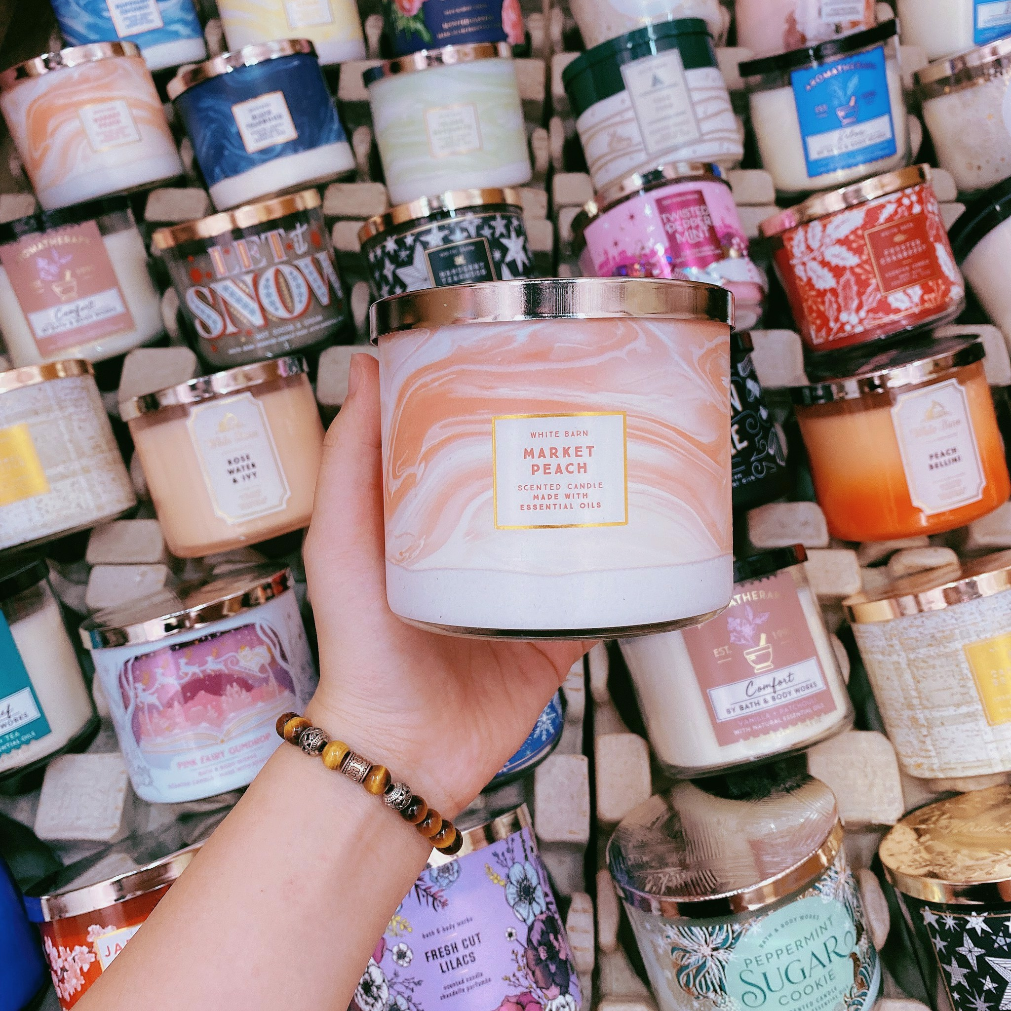 Nến Thơm 3 Bấc Bath & Body Works Market Peach Scented Candle
