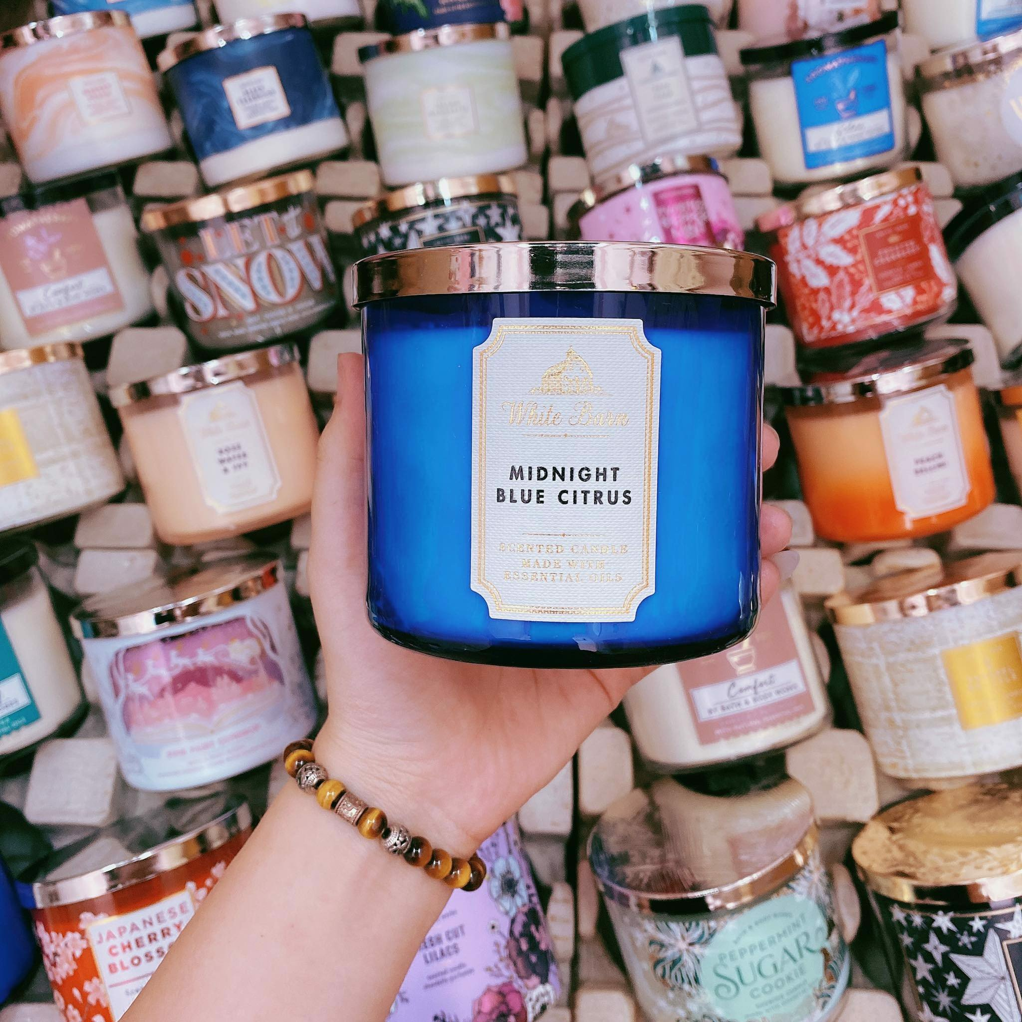 Nến Thơm 3 Bấc Bath & Body Works Midnight Blue Scented Candle