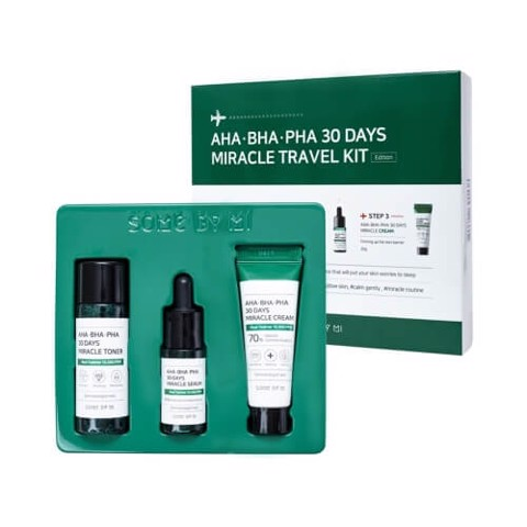 Bộ Dưỡng Da Trị Mụn Some By Mi AHA-BHA-PHA 30 Days Miracle Travel Kit Edition