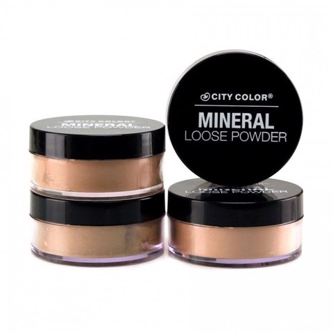 Phấn Phủ Kiềm Dầu City Color Mineral Loose Powder