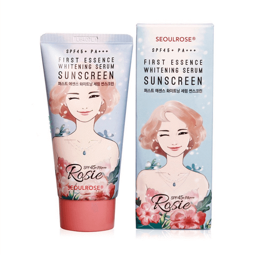 Kem Chống Nắng SeoulRose Rosie First Essence Whitening Serum Suncreen SPF 45+ PA+++