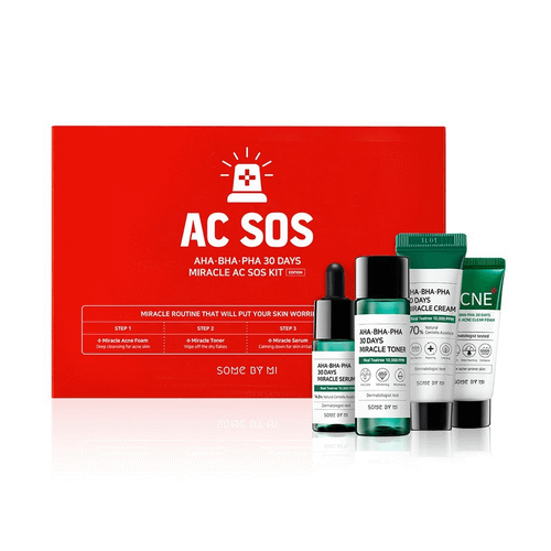 Bộ Dưỡng Da Some By Mi AHA-BHA-PHA 30 Days Miracle Ac Sos Kit Edition