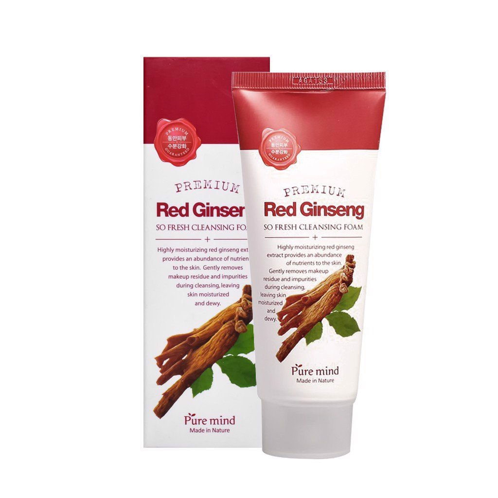 Sữa Rửa Mặt Pure Mind Red Ginseng So Fresh Cleansing Foam