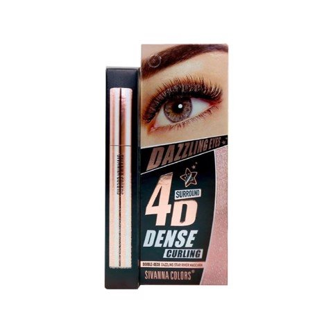 Mascara 4D Làm Dày Mi Sivanna Colors Double-Deck Dazzling Star River Mascara