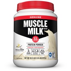 Muscle Milk Genuine Protein Powder, Vanilla, 32g Protein, 1.9 Lb