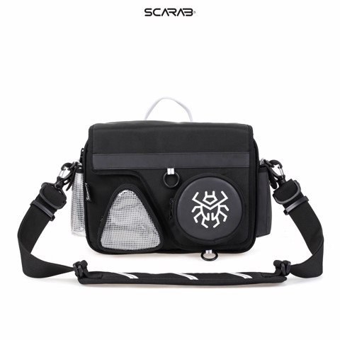 Solid Reflective Messenger Bag