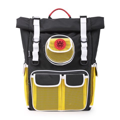 Scarab Healing Roll Top Backpack - Yellow