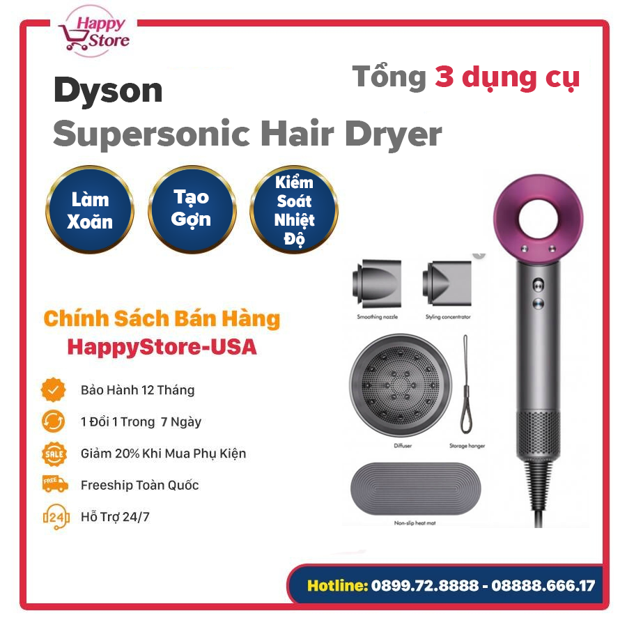 Máy sấy tóc Dyson Supersonic Hair Dryer Iron (Dyson HD01)