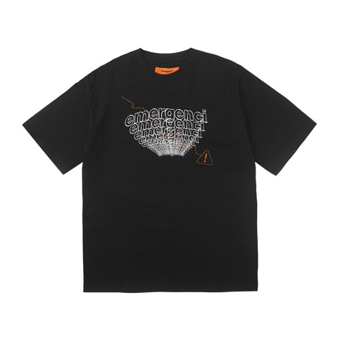 Warning Sign T-shirt - Black