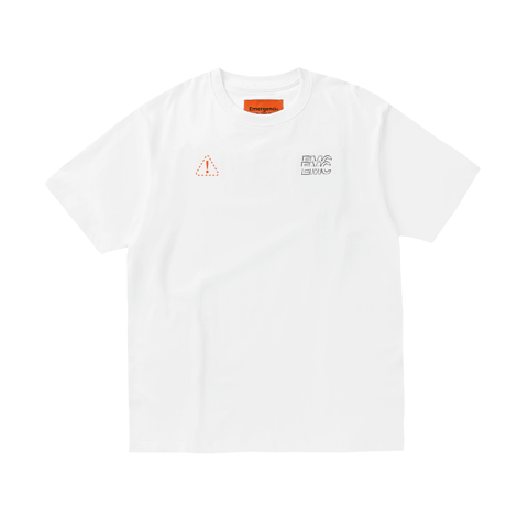 Distort Logo T-shirt - White