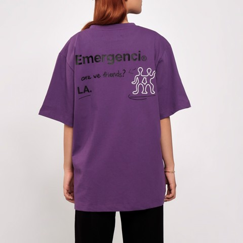 Are We Friends? T-shirt - Purple