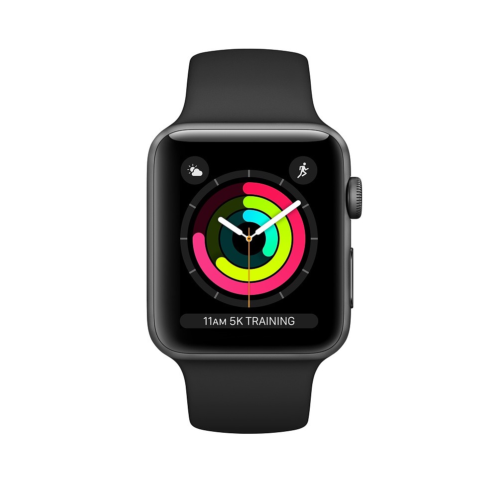 Apple Watch Series 3 42mm Gray/Black Sport MTF32 LL (Zin 99%, full box pk zin, BH apple 9/2021, TL BH 1 tháng)
