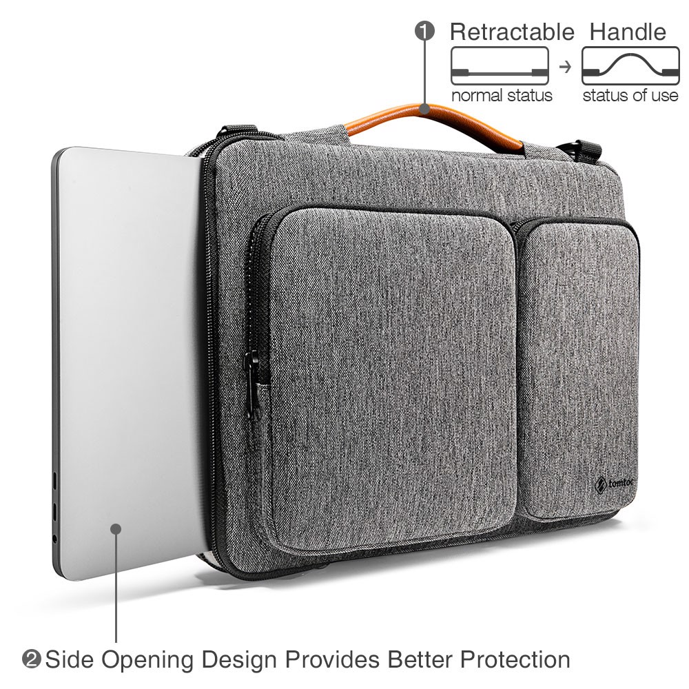 Túi Đeo Tomtoc (USA) 360* Shoulder Bags Macbook Pro 15″/Macbook 16″ Gray