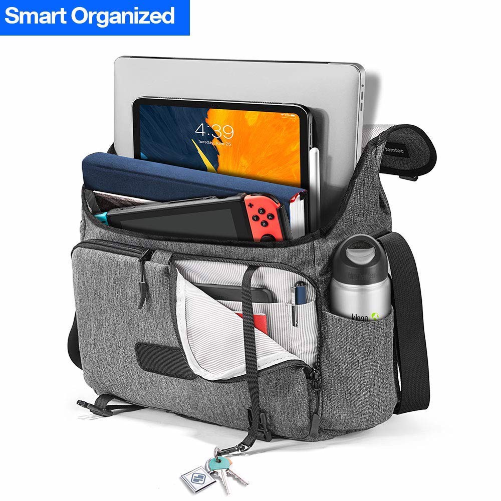 Túi Đeo Vai Tomtoc (USA) Casual Messenger Multi-Function For Ultrabook 13″-13.5″ Gray