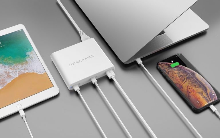 Sạc Macbook, Surface Hyperjuice 87w Dual Usb-C /QC4.0 Tích Hợp Usb-A QC3.0