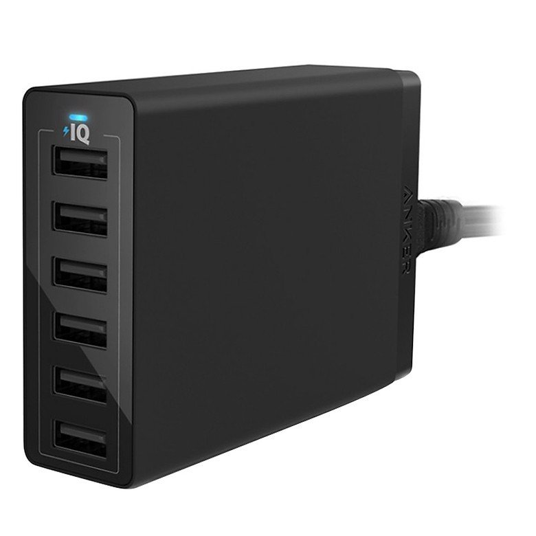 Sạc Anker 6 cổng, 60w, Quick Charge 2.0 - [Powerport+ 6, 60w, QC 2.0] - A2062