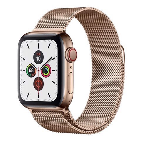 Apple Watch Series 5 44mm Gold Stainless Milanese Zin Đẹp 99% Dây LK Fullbox PK Zin