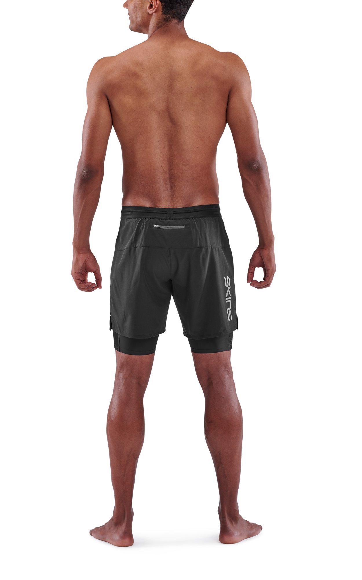 Skins: Quần chạy bộ 2 in 1 Compression Superpose 3-Series - Black