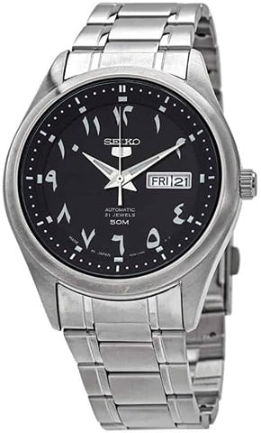 5 Automatic Black Dial Men's Watch SNKP21J1