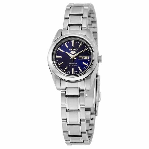 5 Automatic Navy Blue Dial Stainless Steel Ladies Watch SYMK15
