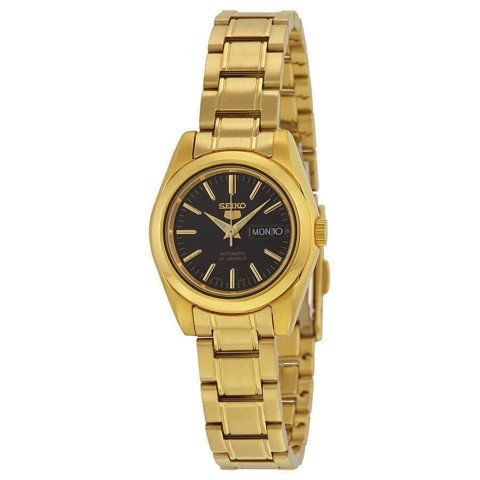 5 Automatic Black Dial Gold-tone Ladies Watch SYMK22