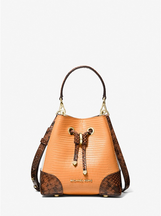 Mercer Gallery Extra-Small Color-Block Embossed Leather Crossbody Bag 32F0GZ5C0N