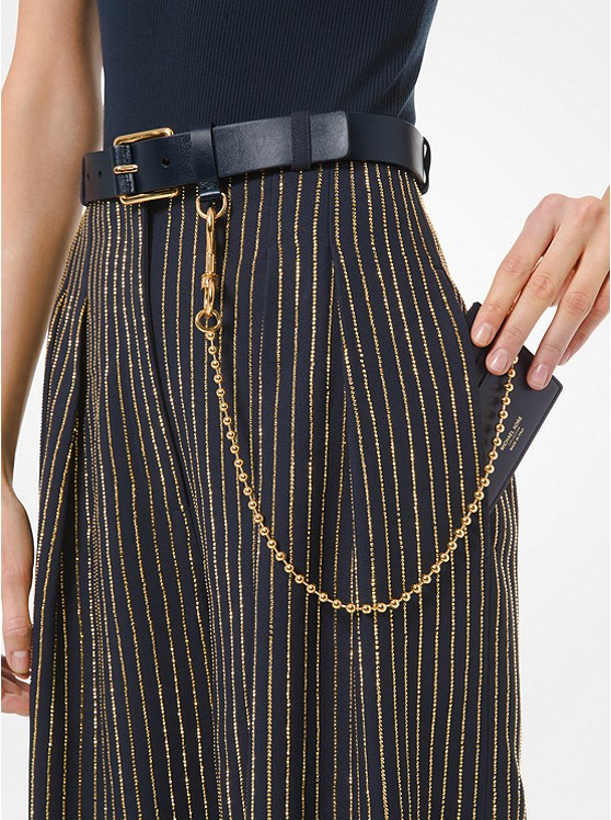 Leather Trouser Belt With Chain Wallet 31S0GBLR5Y