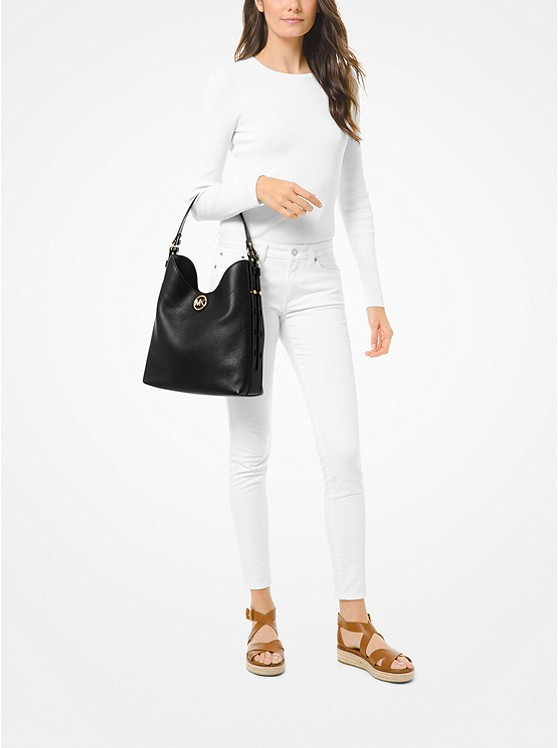 Bowery Large Pebbled Leather Shoulder Bag 30S0GBOH3L